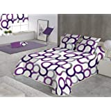 SABANALIA Couvre-lit à Motif géométrique Cama de 150-250 x 280 Lilas