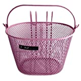 Point 05107700 VR Colour - Cesta frontal para bicicleta infantil (25 x 16 x 16 cm), color rosa