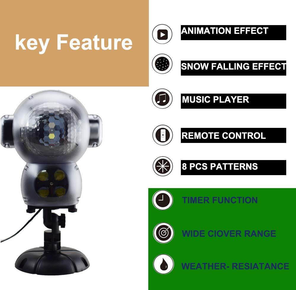 Weihnachtsprojektor-Lichter-LED-projektionslampe-Anime-Schneeflocke-Projektor-Light-mit-Fernbedienung-Timer-und-Musik-Player-halloween-landschaft-projektor-fr-Outdoor-Hochzeit-Weihnachten