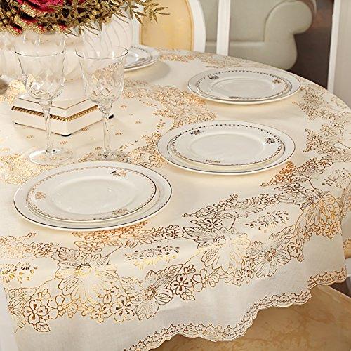 Anjcd Nappe ronde en imperméabilisant en PVC Table à manger à la simplicité moderne Table basse Table basse ( taille : 150cm )