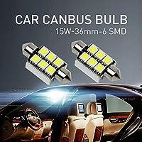 Mihaz 2 x 36 6-SMD CAN-Bus senza errori del festone 6418 C5W LED SMD lampadine per luci interne auto o targa a LED lampadine Xenon Bianco