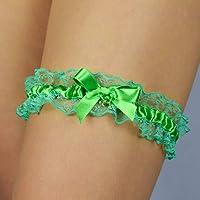 Giarrettiera di pizzo nozze matrimonio sposa biancheria intima regali de nozze verde