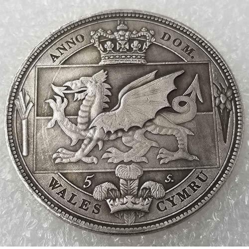 YunBest Best Morgan Silber-Dollars - Wales 1910 George V alte Silbermünze - alte Münze zum Sammeln - Silber-Dollar alte Münze BestShop -