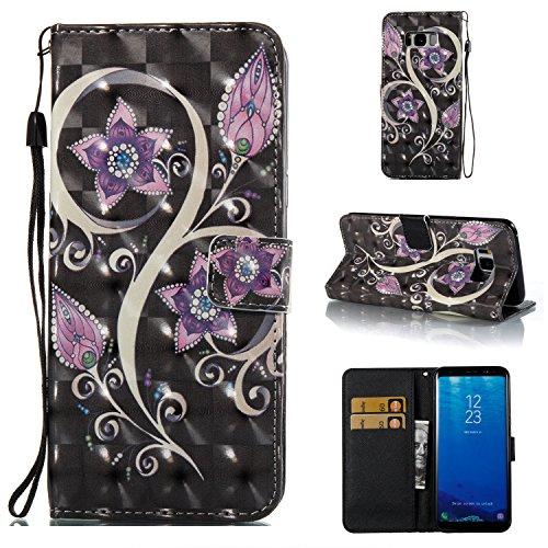 Ecoway Para Samsung galaxy S8 Plus Funda, (Flor del pavo real)Pintado en relieve árbol Cuero de la PU Leather Cubierta , Función de Soporte Billetera con Tapa para Tarjetas Soporte para Teléfono