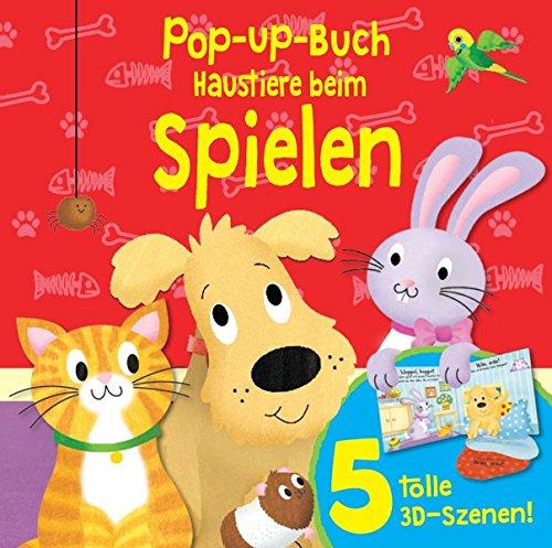 Pop-Up-Buch Haustiere beim Spielen
