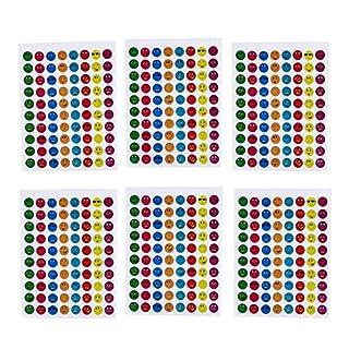 Sticker für Kinder & Kalender Smilies und Emojis Tagebuch Sticker 800 Stück 10 Blatt