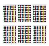 Autocollants pour enfants et calendriers Autocollants de journal des smileys et Emojis 14x8 pièces par feuille. 10 feuilles / 1120 pièces