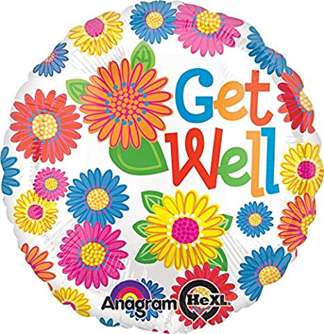 Amscan flower get well foil balloon standard