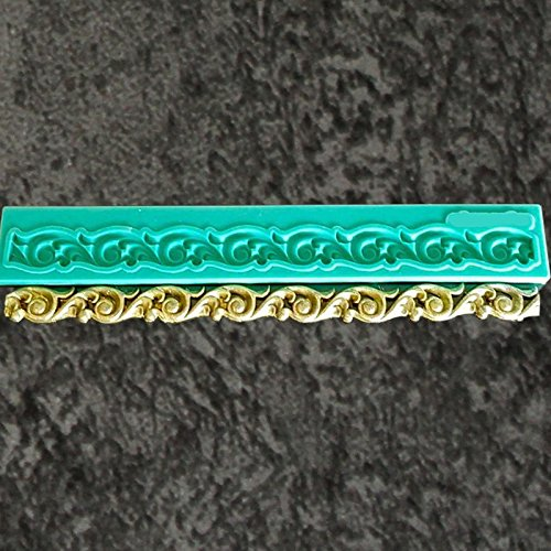 yueyue Sugarcraft Bordüre Silikon Form für Fondant, Kuchen dekorieren Tools Schokolade gumpaste Form (Gumpaste Cutter Tool)