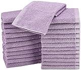 AmazonBasics Waschlappen aus Baumwolle, 24er-Pack-  Lavendelviolett