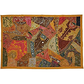 Indian Handmade Tapestry ,Indian Throw Wall Decor Art,Indian Patchwork Wall  Tapestry ,Indian