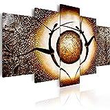 murando handgemalte Bilder 170x110cm Gemälde 5 tlg gold braun 92655