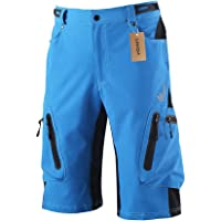 Lixada Men's Bicycle Shorts ,Breathable Mountain Bike Shorts Lightweight and Baggy MTB Shorts for Outdoor Cycling…