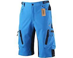 Lixada Men's Bicycle Shorts ,Breathable Mountain Bike Shorts Lightweight and Baggy MTB Shorts for Outdoor Cycling Running Gym
