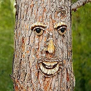 Pötsche Ambiente Karl Kiefer Visage décoratif pour tronc d'arbre