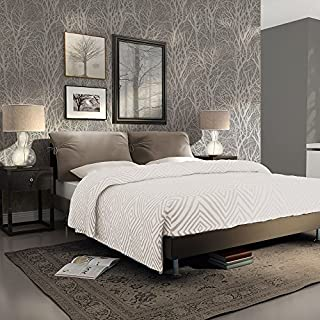 AS Creation Forest Pattern Wood Tree Metallic Pearl Motif Embossed Wallpaper (Grey 300943)