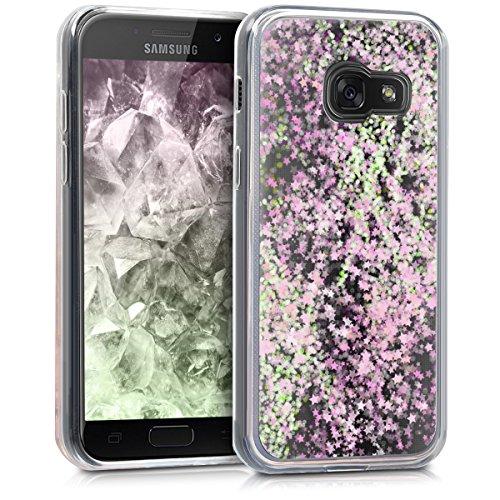 kwmobile Samsung Galaxy A3 (2017) Hülle - Handyhülle für Samsung Galaxy A3 (2017) - Handy Case in Rosa Transparent