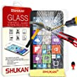 Microsoft Lumia 640 Tempered Glass Crystal Clear LCD Screen Protector Guard & Polishing Cloth + RED 2 IN 1 Dust Stopper SVL2 BY SHUKAN�, (TEMPERED GLASS)
