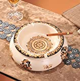 SDKKY De lujo de estilo europeo Gold Ceramic Ashtray bares KTV bar cenicero...