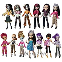 Miunana 10 Sets Kleidung Clothes Girl Ohne Puppe Outfit Fashion für monster high Doll