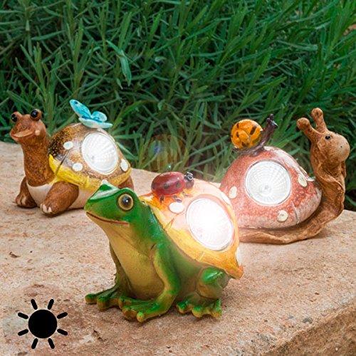Figura luminosa solar decorativa para exterior, naturaleza, animales, terraza, Escargot