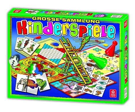 Spielesammlung Kinder viele verschiedene Spielmöglichkeiten in Stülpschachtel