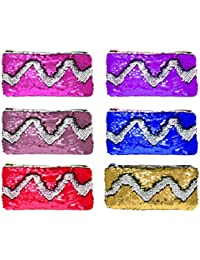 BOXO Best Return Gift For Girls And Women Hand Bag Hair Purse, 20 Grams, Multi Color, Set Of 6