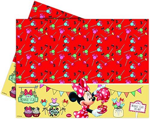 1 x Tischdecke Minnie Mouse aus Kunststoff für einen Geburtstag oder eine Feier bunt Kinder Mädchen Tablecover Party Fest Kindergeburtstag Mottoparty Disney Mickey (Fest Disney)
