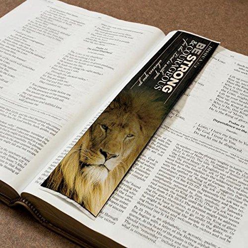 Logos Lesezeichen-Be Strong & Courageous-Joshua 1: 9, Christian Tuch Teppich Lesezeichen (Lesezeichen Teppich)