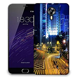 Snoogg Clean Roads Designer Protective Phone Back Case Cover For Meizu M2