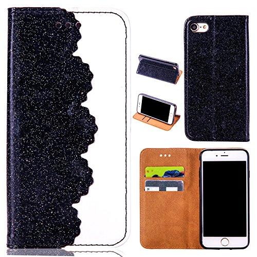 3D Bling Glitter Glitzer Diamond Musterg Ledertasche Slim Retro Bookstyle mit Standfunktion Karteneinschub Magnetverschluss Flip Wallet Hülle Schutzhülle für iPhone 6S / iPhone 6
