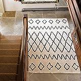 Flair Rugs – Alfombra Bereber Nilo Shaggy 100% alfombra de lana tejida a mano, marfil, 160 x 230 cm