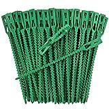 Pflanzenclips starke stabile Pflanzenklammern extra groß für Spaliere Rosenbogen Rankhilfe etc , iapyx® (50)