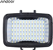 Andoer Ultra Bright 1800LM 3 Modes Waterproof Underwater 40m 5500K 60pcs LED Diving Fill-in Light Video Studio Photo Lamp