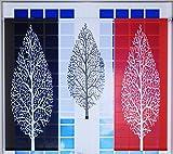Miniflächen-Set mit Baum rot schwarz weiß Scheibengardine