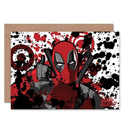 ool-Graffiti, Superhelden-Grußkarte ()