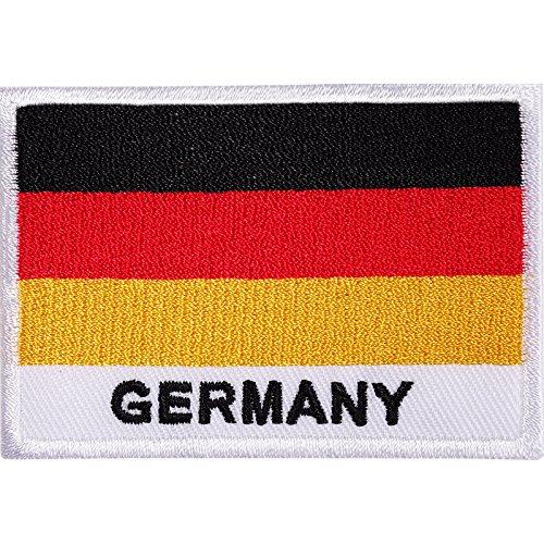 Parche hierro/sew bordado bandera Alemania DEUTSCHLAND