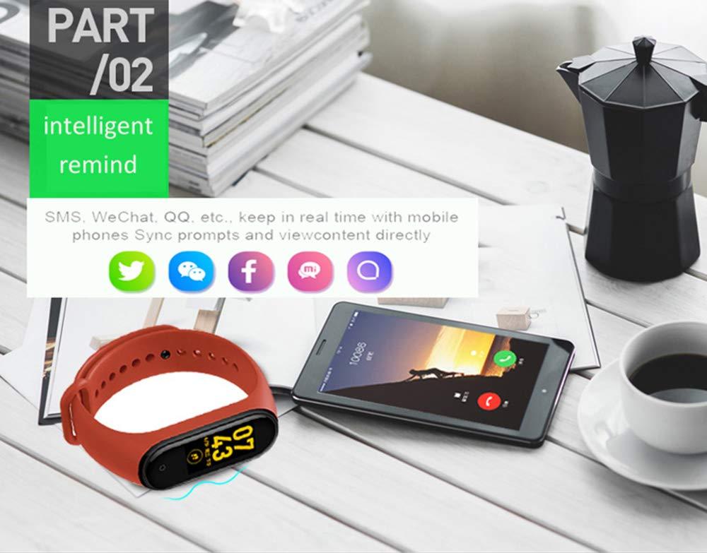 BATHRINS Pulsera Inteligente, [Actualización] M4 Fitness Tracker Rastreador de Actividad Bluetooth Impermeable Monitor… 4