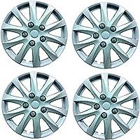 4 tapacubos de plástico para ruedas Phoenix de 14 pulgadas para Opel Corsa C (2001