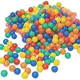 LittleTom Pelotas multicolores de plástico Ø6cm de diámetro | 100 pequeñas Bolas de colores para bebés