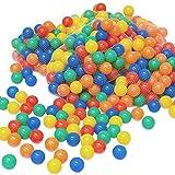 LittleTom 100 Palline colorate Ø 6 cm di diametro | palline di plastica gioco per bambini prima infanzia per riempire piscine tende | 5 colori misti giallo rosso blu verde arancione | alta qualità