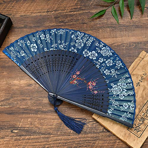 QIFUDEVS-HANDLE FAN Home Gefaltete Hand Fan Bambus Handheld Faltfächer Oriental Handmade for DIY Wanddekoration Hochzeitsfestbevorzugung Frauen Mann Tanzen Show Requisiten (Color : C)