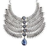 #6: The Jewelbox Bridal Antique Tribal Afghani Bohemian Oxidised German Silver Heavy Choker Necklace Women
