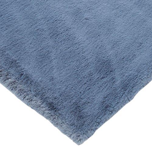 CRS Fur Fabrics Super Luxe Fausse Fourrure Tissu Matériau - en Peluche Super Doux Bleu