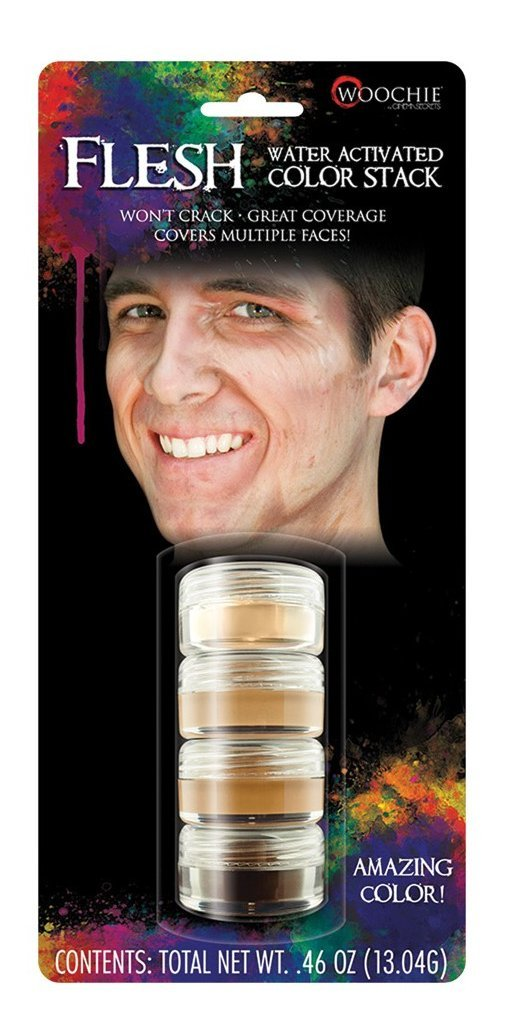 Woochie Wasseraktiviertes Make-Up-Stapel, professionelle Qualität, für Halloween und Kostüme, fleischfarben