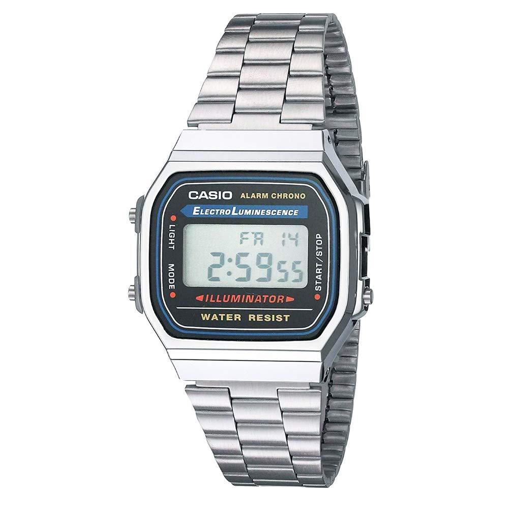 Casio  A158WA-1DF – Reloj digital de cuarzo para hombre con correa