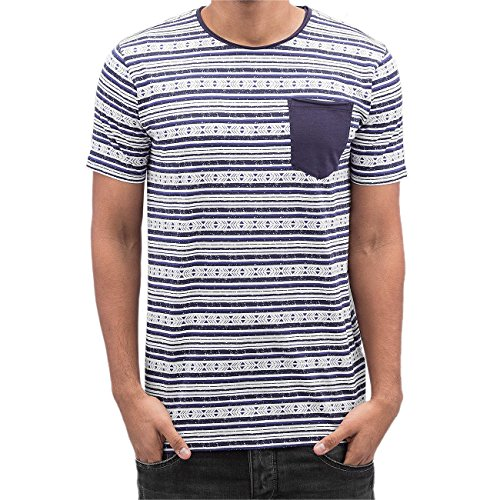 SHINE Original Herren Oberteile / T-Shirt Stripes Blau