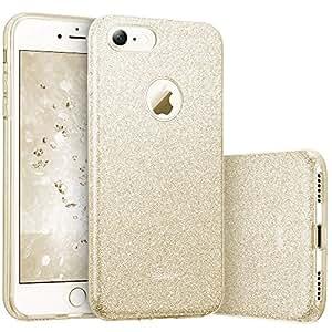 ESR iPhone 7 Cover con Brillantini/Glitters, Custodia Brillante Lucciante Luminosa [Elastica e Morbida] per Apple iPhone 7 (Oro Champagne)