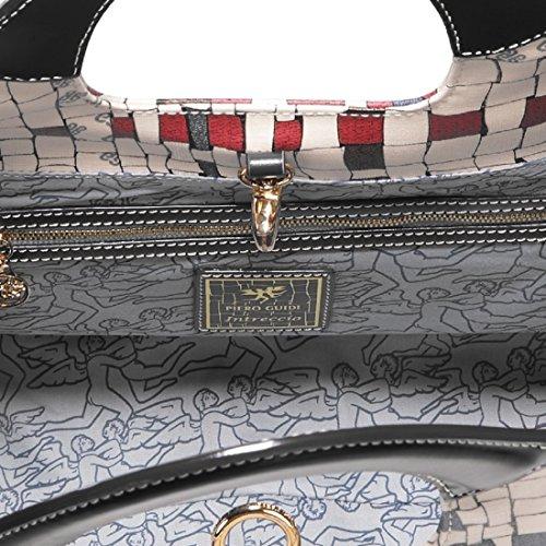 Borsa a tracolla Grande PIERO GUIDI Intreccio Art Donna - 314X81529 Nero