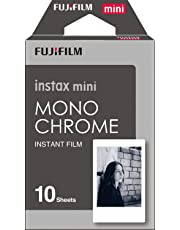 Fujifilm Instax Designer Film's 10 Sheet Credit Card Size Film for Mini Camera's (Available in Many Design's Choose Your) (Monochrome)